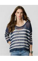 Denim & Supply Ralph Lauren Striped Linen Crewneck Sweater - Lyst