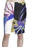 Versace Skirt Sheath Raffia Print - Lyst