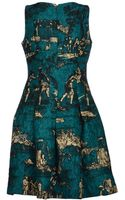 Oscar de la Renta Kneelength Dress - Lyst