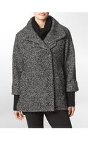 Calvin Klein Tweed Knit Sleeve Wool Blend Cocoon Jacket - Lyst