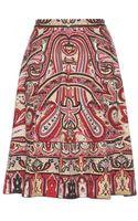 Etro Printed Skirt - Lyst