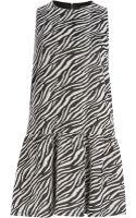River Island Black Zebra Print Drop Waist Shift Dress - Lyst