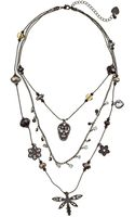 Betsey Johnson Blackout Toc Dragonfly Skull Illusion Necklace - Lyst
