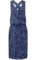 10 Crosby Derek Lam Leopard Print Silk Dress - Lyst