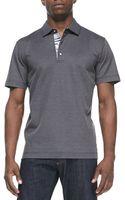 Robert Graham Tino Pique Polo Shirt Black - Lyst