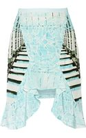 Peter Pilotto Cascade Printed Silk Skirt - Lyst