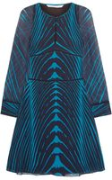 Diane Von Furstenberg Glenna Printed Silkchiffon Mini Dress - Lyst