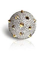 Noir Jewelry 12 Spike Pyramid Ring - Lyst