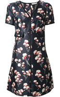 Tory Burch Floral Blouse Dress - Lyst
