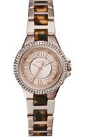 Michael Kors Petite Rose Golden Stainless Steel Threehand Glitz Watch - Lyst