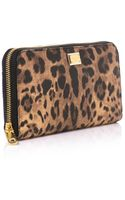 Dolce & Gabbana Leopard Print Leather Wallet - Lyst