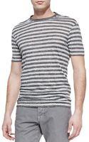 Vince Striped Linen-knit Tee - Lyst