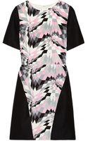 Tibi Printed Silk and Linen Blend Dress - Lyst