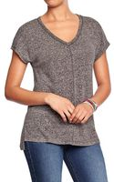Old Navy Heathered V-neck Tees - Lyst