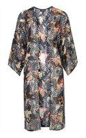 Topshop Womens Feather Duster Kimono Multi - Lyst