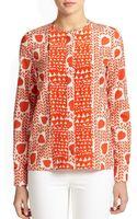 Stella McCartney Silk Heart  Lip-print Blouse - Lyst