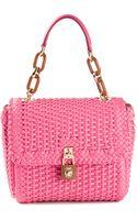 Dolce & Gabbana Woven Tote Bag - Lyst