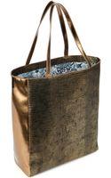 Ted Baker Textured Metallic Bow Shopper - Lyst
