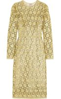 Dolce & Gabbana Metallic Macramã Lace Dress - Lyst