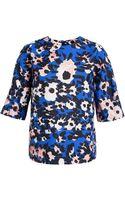 Marni Floral Print Tshirt Blouse - Lyst