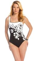 Miraclesuit Flower Print Ruched One Piece - Lyst