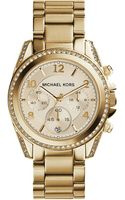 Michael Kors Blair Goldtone Stainless Steel Chronograph Watch - Lyst