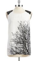 Vince Camuto Patterned Sleeveless Blouse - Lyst