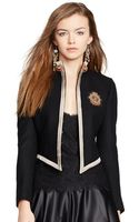 Polo Ralph Lauren Cropped Patch Jacket - Lyst