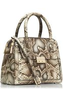 Tory Burch Elise Snake Small Dome Satchel - Lyst