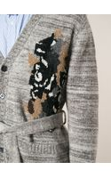 Golden Goose Deluxe Brand Jacquard Belted Cardigan - Lyst