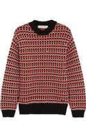 Cedric Charlier Chunky Knit Cotton Blend Sweater - Lyst