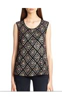 Joie Messana Silk Sequin-patterned Top - Lyst