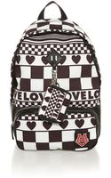 Love Moschino Checkered Printed Nylon Backpack - Lyst