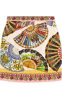 Dolce & Gabbana Printed Matelassé Mini Skirt - Lyst