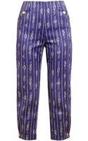 Olympia Le-Tan Rope Printed Tailored Cotton Trousers - Lyst
