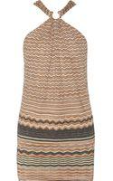 M Missoni Metallic Crochet Knit Dress - Lyst