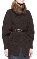 Oscar de la Renta Fox Fur Collar - Lyst