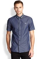 Fred Perry Cotton Chambray Sport Shirt - Lyst