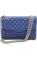 Rebecca Minkoff Quilted Affair Bag with Studs Navy - Lyst
