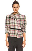 Isabel Marant Madoc Embroidered Check Linen Blend Jacket - Lyst