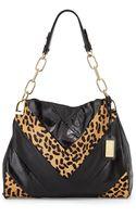 Badgley Mischka Valentina Leopardprint Calf Hair Shoulder Bag - Lyst