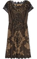 Oscar de la Renta Beaded Lace Dress - Lyst