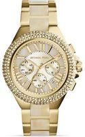 Michael Kors Acetate Goldtone Camille Glitz Watch 43mm - Lyst