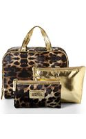 Kenneth Cole Reaction Brown Leopard Print 3-piece Overnight Set - Lyst