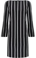 Emilio Pucci Vertical Stripe Silk Dress - Lyst