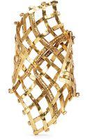 Erickson Beamon Heart Of Gold Gauzy Crystal Cuff - Lyst