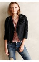 Ag Adriano Goldschmied Ag Coated Denim Moto Jacket - Lyst