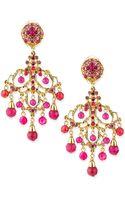 Jose & Maria Barrera Pink Chandelier Drop Earrings - Lyst