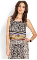 Forever 21 Mixed Print Crop Top - Lyst