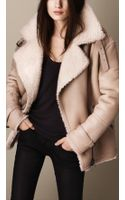 Burberry Oversize Shearling Aviator Jacket - Lyst